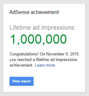 google adsense achievement