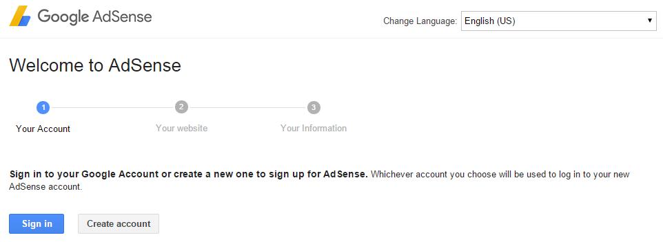 start google adsense