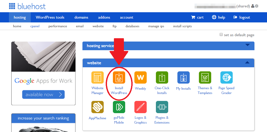 step 10 - install wordpress