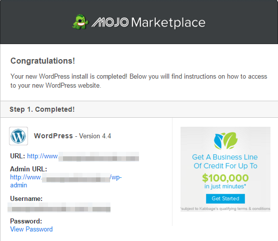 step 15 - mojo marketplace email