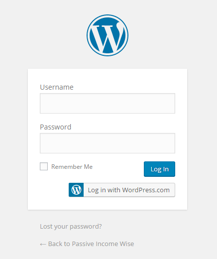 step 16 - log in to wordpress