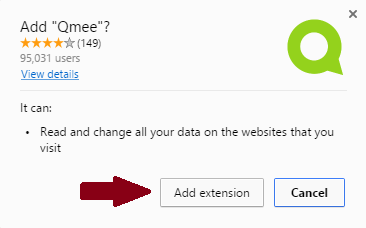 install qmee extension