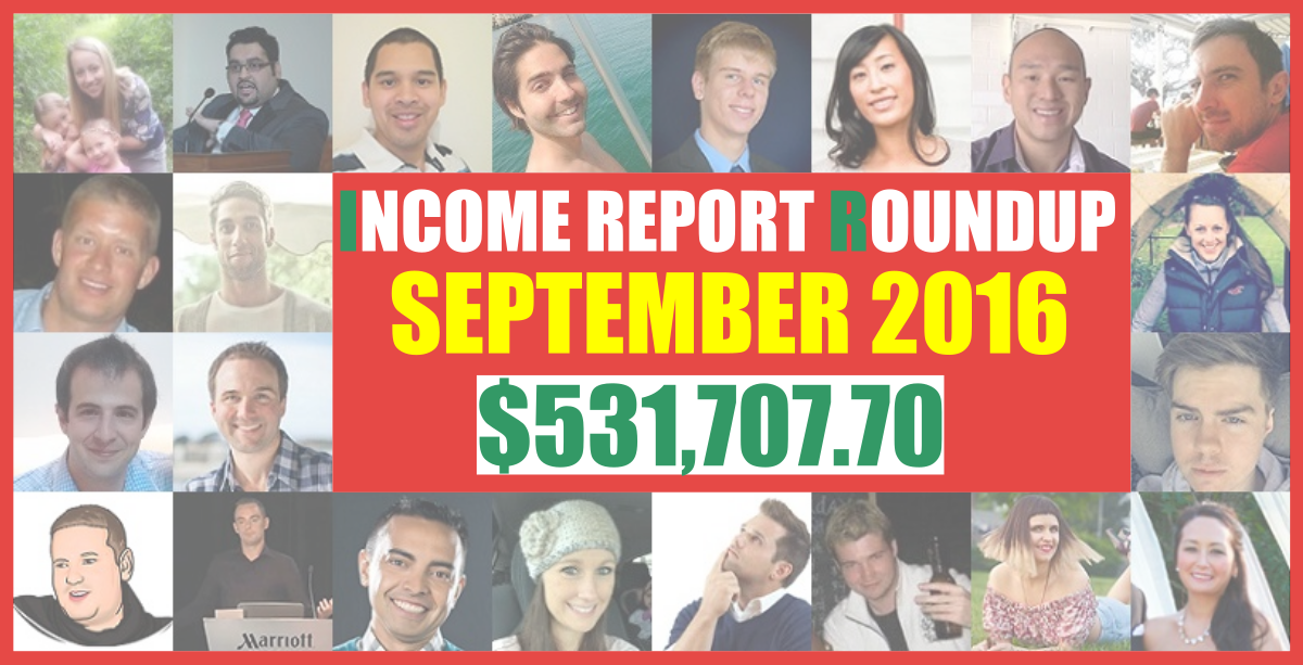 september 2016 income report roundup