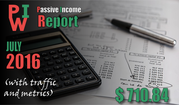 monthly income report july 2016