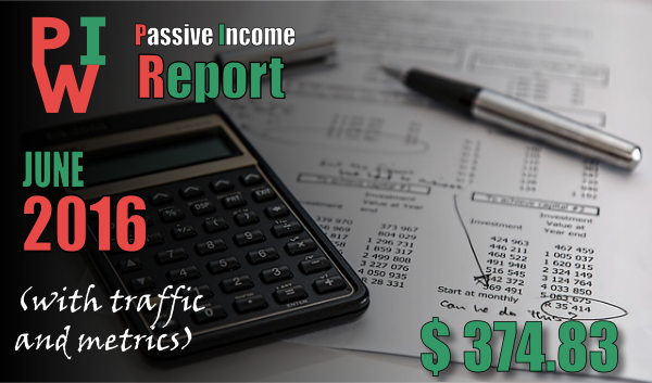 monthly income report june 2016