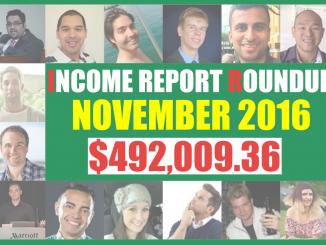 november 2016 income report roundup