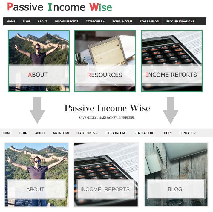 website-layout-change