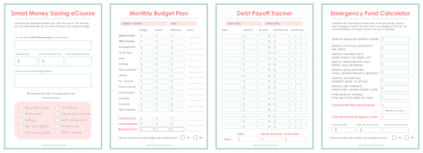Smart Money Saving Printables