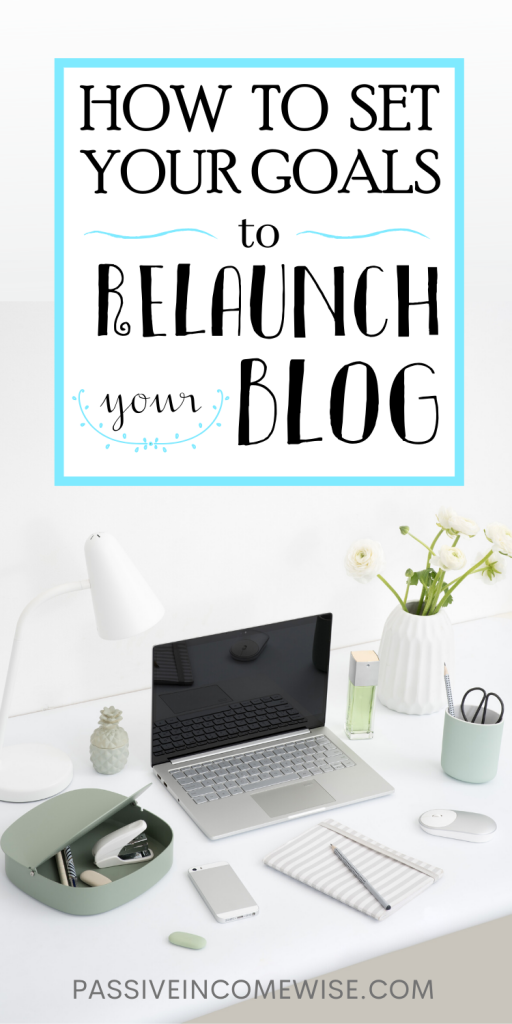 how to set goals to relaunch your blog, What should I blog about, set your goals first, What does success looks like, Set realistic goals for your blog